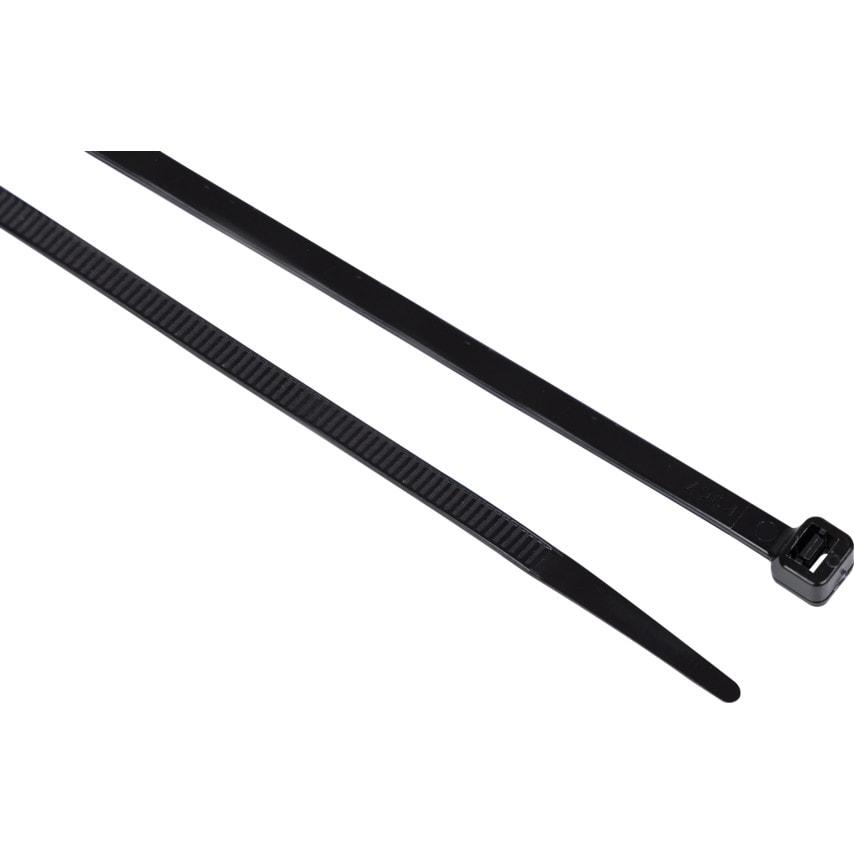 Edison Black Cable Ties 2.5x160mm (PK-100)