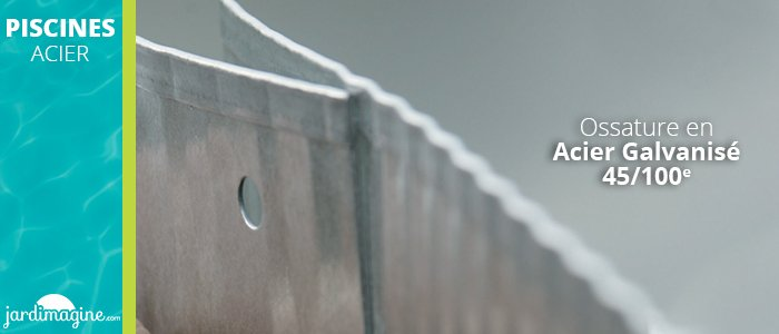 piscine en acier structure acier galvanisé - piscines acier blanche