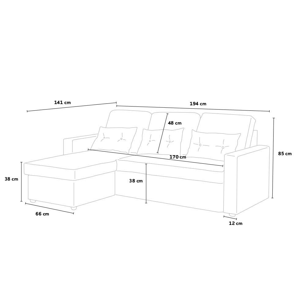 3 seats sofa bed Smeraldo