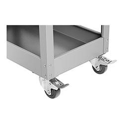 Servante d´atelier - 3 plateaux - 1 tiroir - 200 kg max. - 4