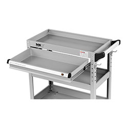 Servante d´atelier - 3 plateaux - 1 tiroir - 200 kg max. - 2