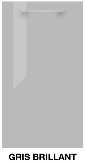 Facade de meuble de cuisine ECO gris brillant
