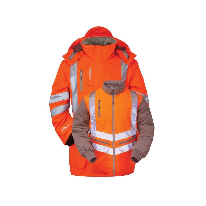 Pulsarail PR497 7-in-1 Hi-vis XL Orange Storm Coat