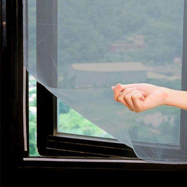Moustiquaire Pour Fenêtre Avec Fixation Velcro 120 x 100 cm Filet Noir Anti-moustique Insecte