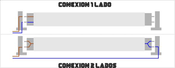 conexion tubo led