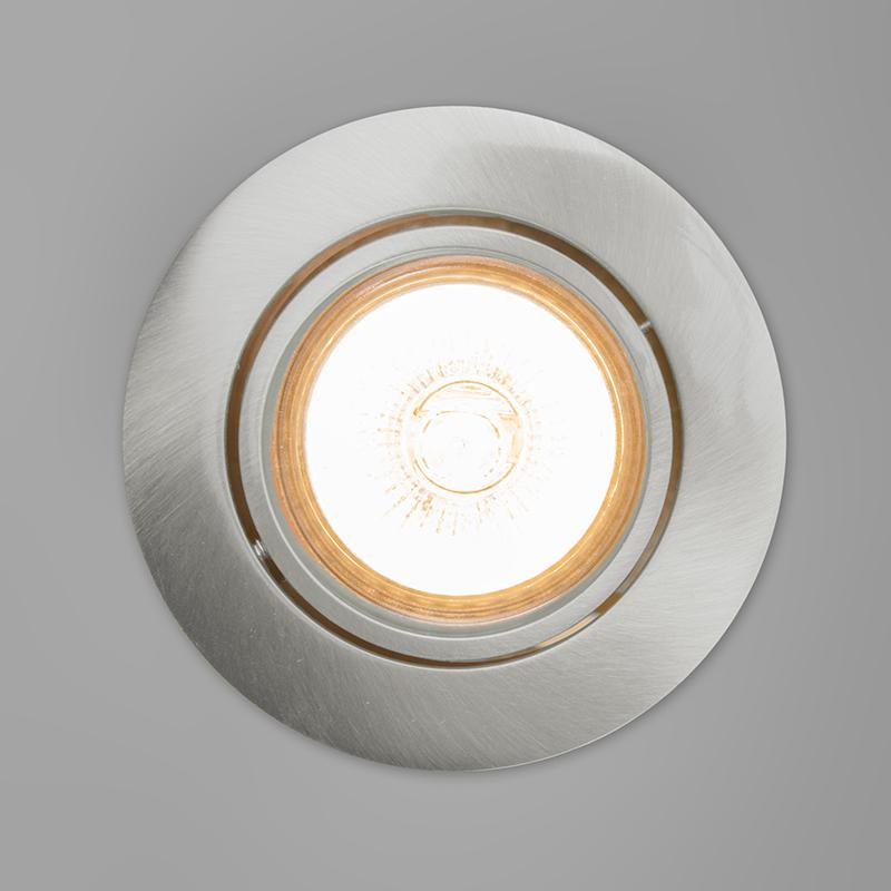 Set of 10 Recessed Spotlight Aluminium - Cisco
