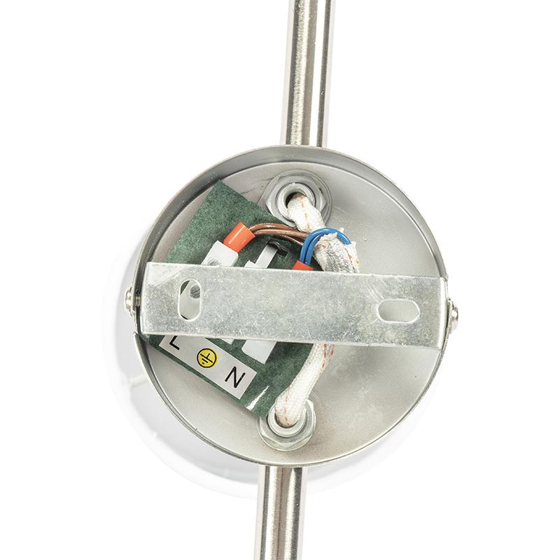 Ceiling spotlight steel with white shade 3-light adjustable - Hetta