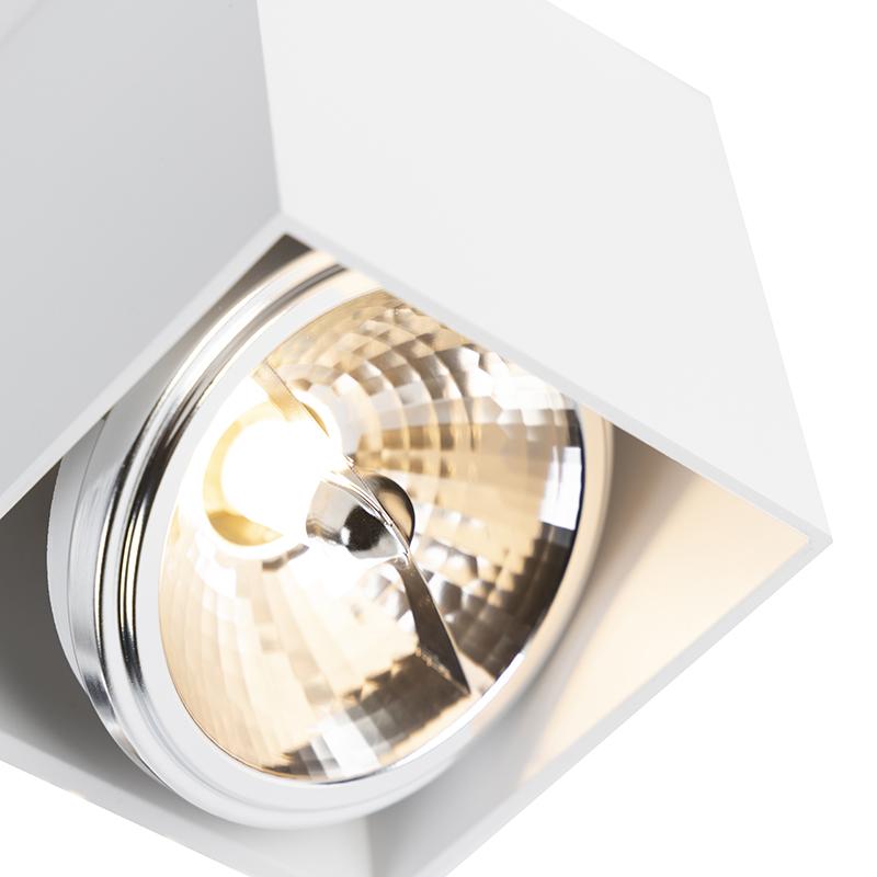 Spot design rectangulaire 2 lumières blanc - Box