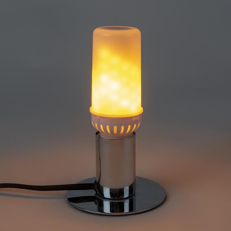 Bombilla E27 LED efecto de llama 5W 300lm 1800 K