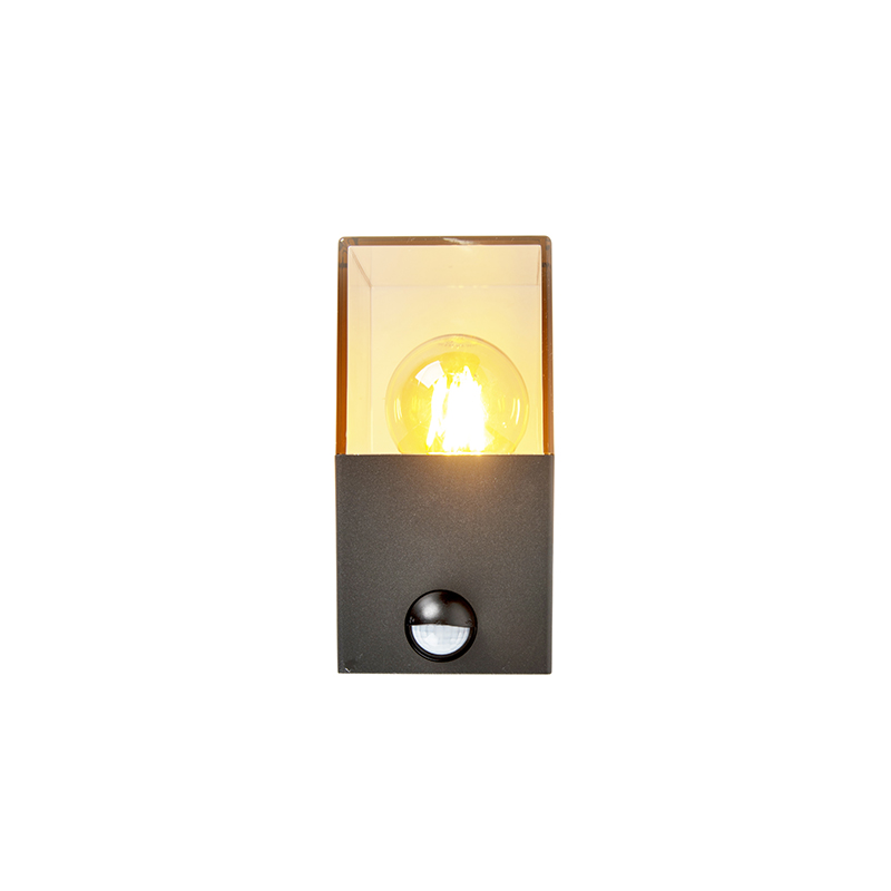 Exterior wall light dark gray with motion detector IP44 - Denmark