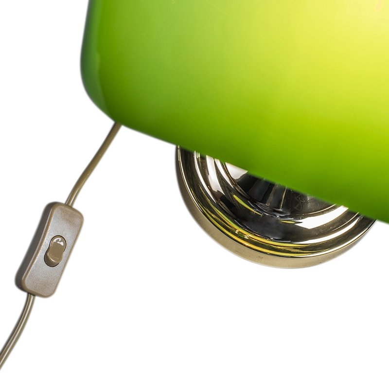 Bankers Lamp Gold with Green Shade