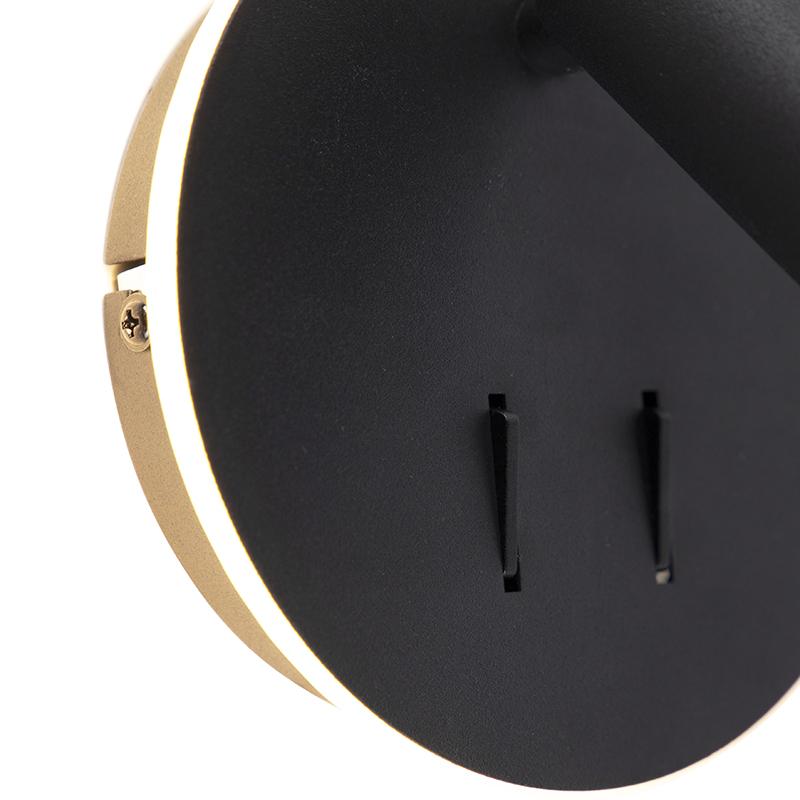 Modern Wall Lamp Black incl. LED - Mario