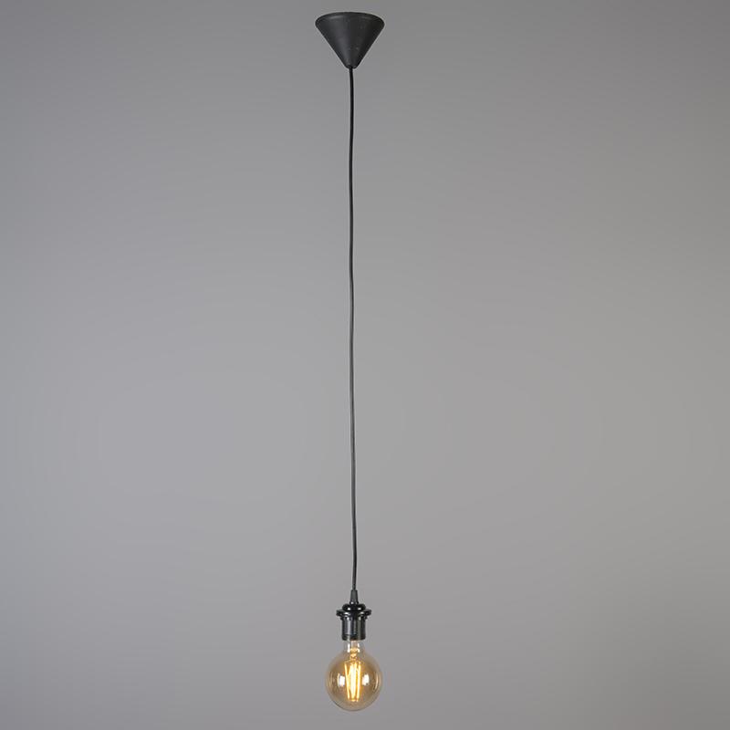 Lampe à suspension rétro noir avec gris 45 cm - Granny