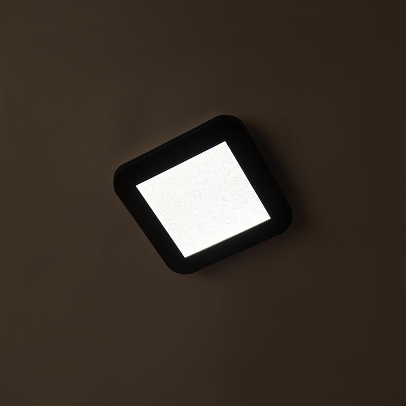Plafonnier noir IP44 dimmable en 3 étapes avec LED - Steve