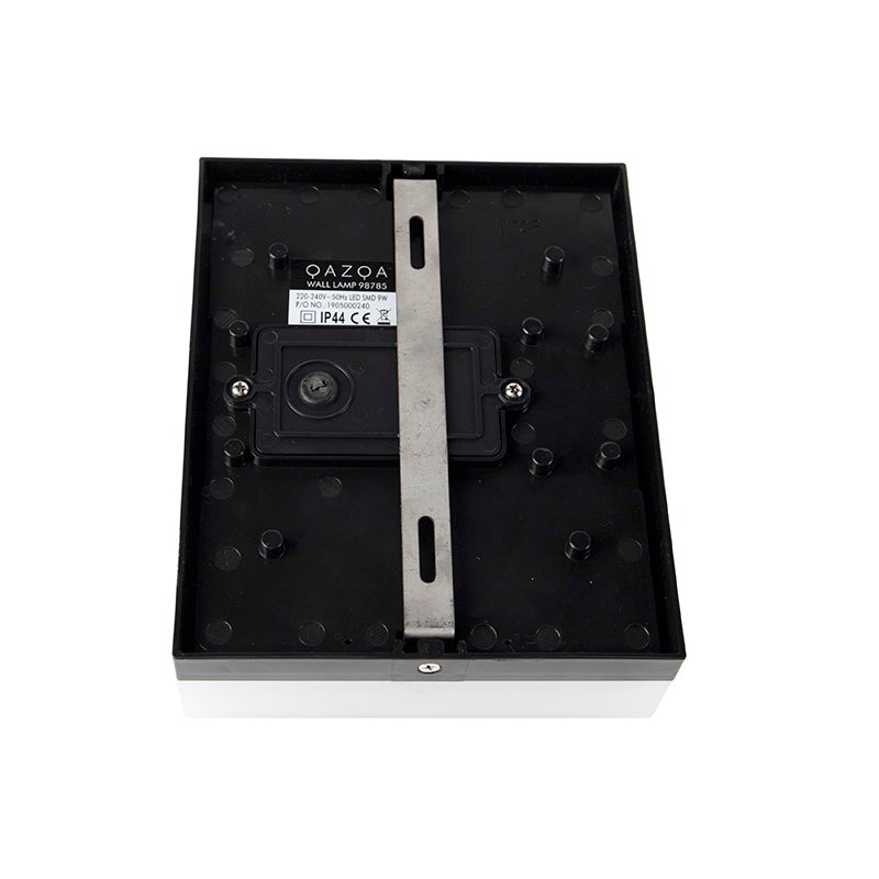Exterior wall light black IP44 incl. LED with motion detector - Dualy