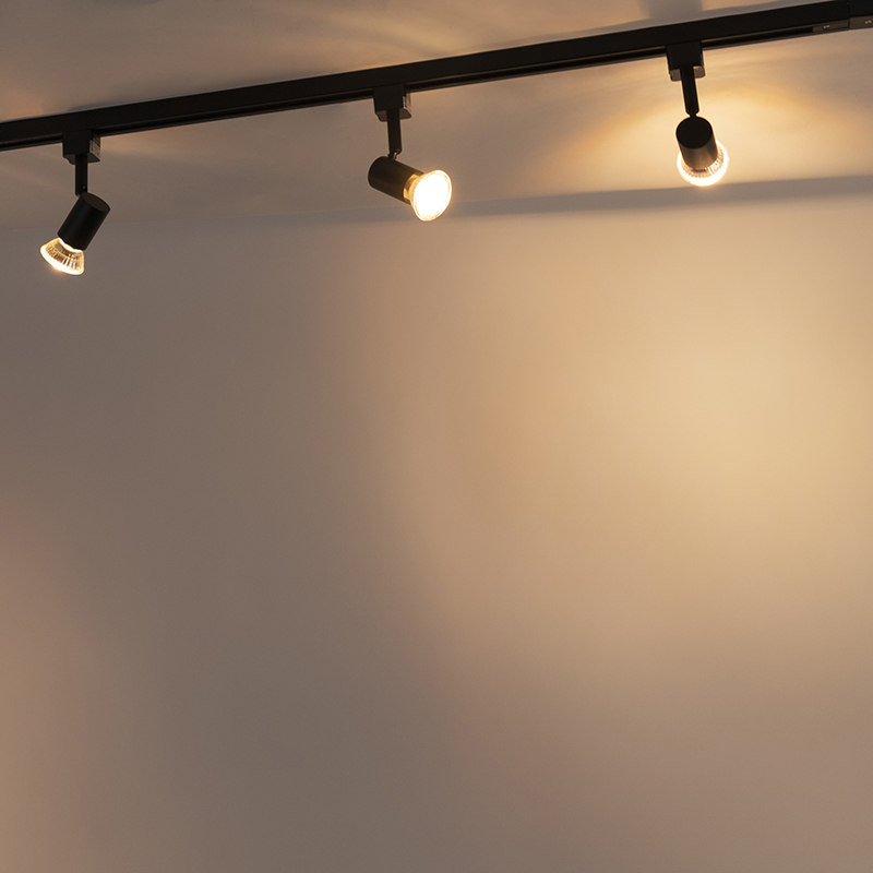 Modern Track Light 1-Phase with 3 Spotlights Black - Jeany