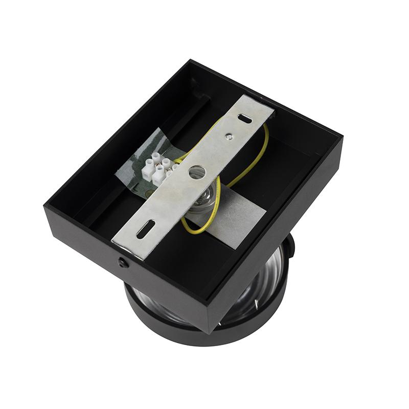 Spot design noir réglable 1 lumière avec LED - Go