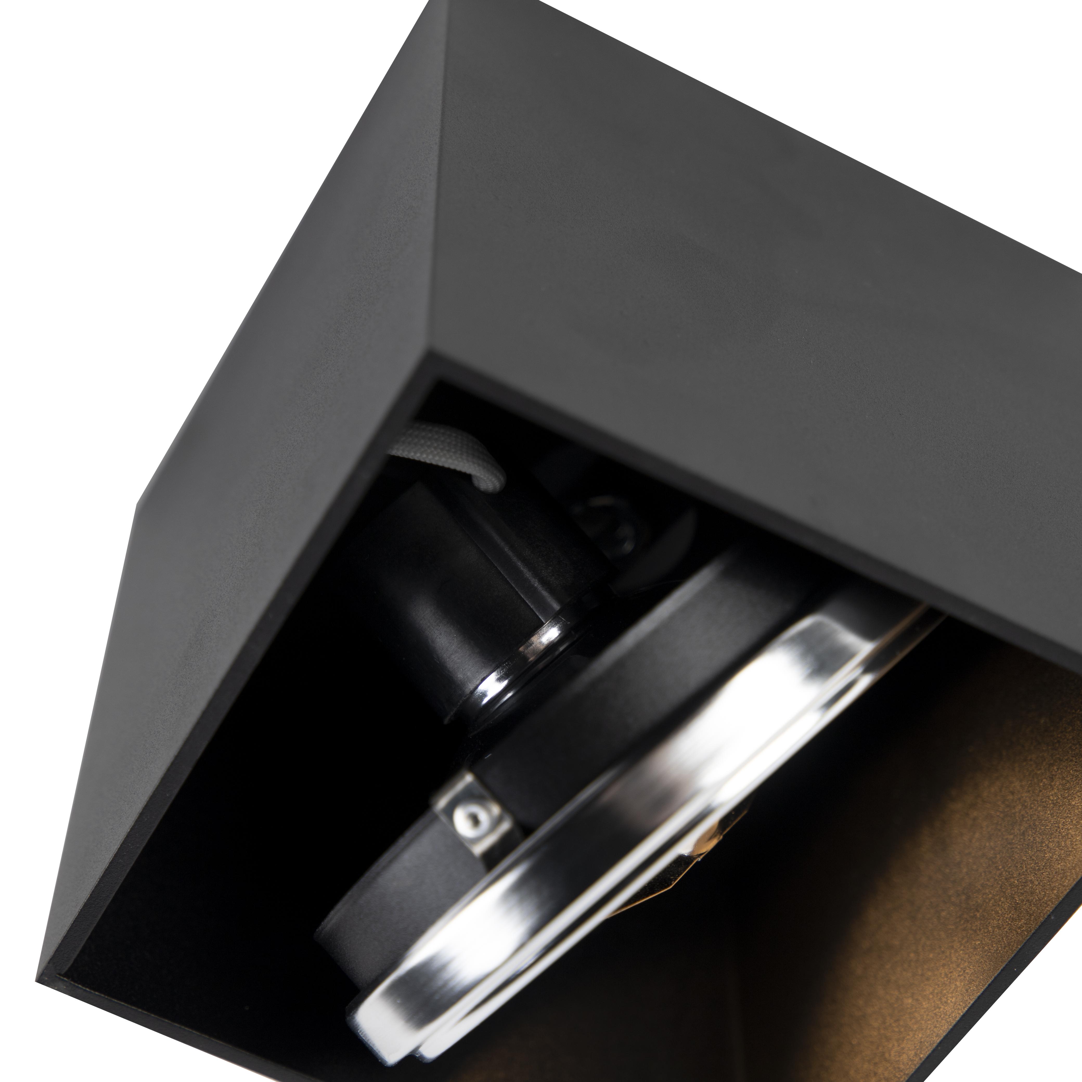 Spot design carré 1 lumière noir incl.1 x G9 - Boîte