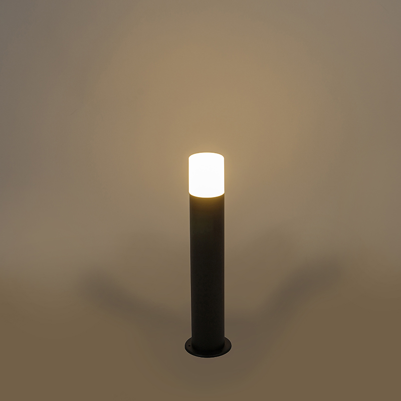Outdoor lamp black with opal white shade 50 cm - Odense