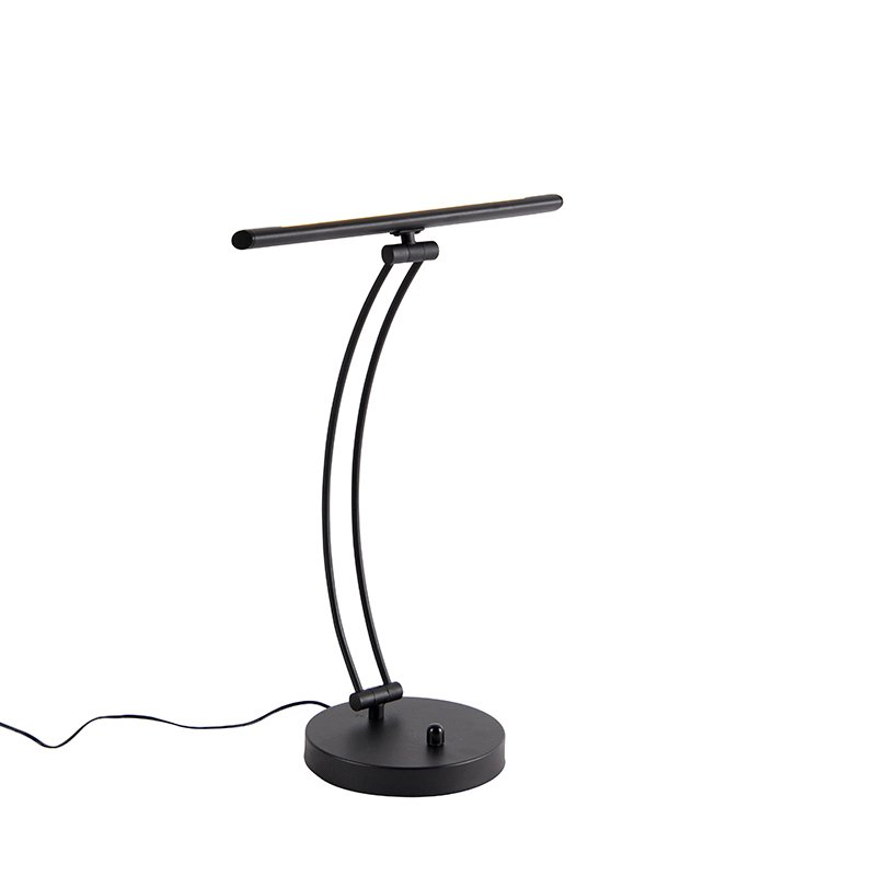 Design table lamp black incl. LED with dimmer - Tableau