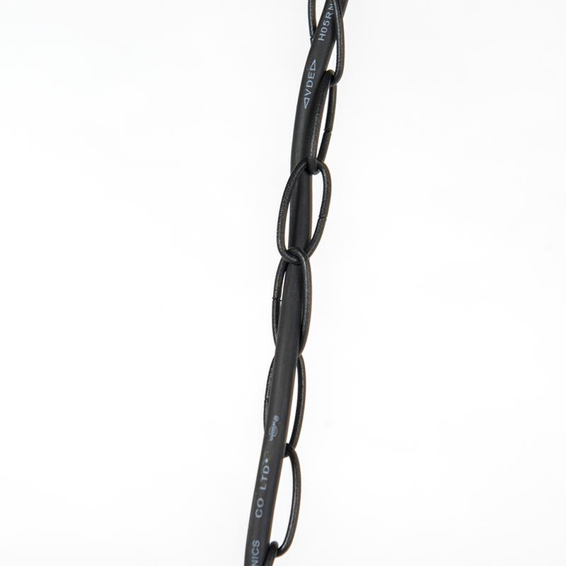 Lámpara colgante rústica negra IP44 - GUARDADO