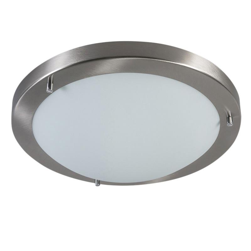 Smart ceiling lamp steel 31 cm incl. WiFi A60 IP44 - Yuma