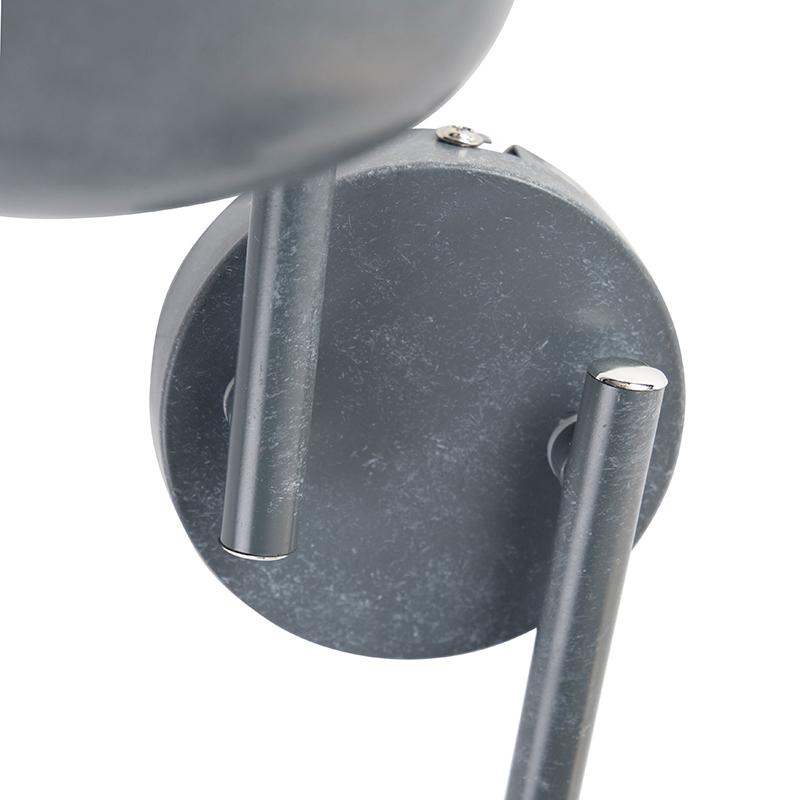 Ceiling spot gray swivel and tiltable 4-light - Plan