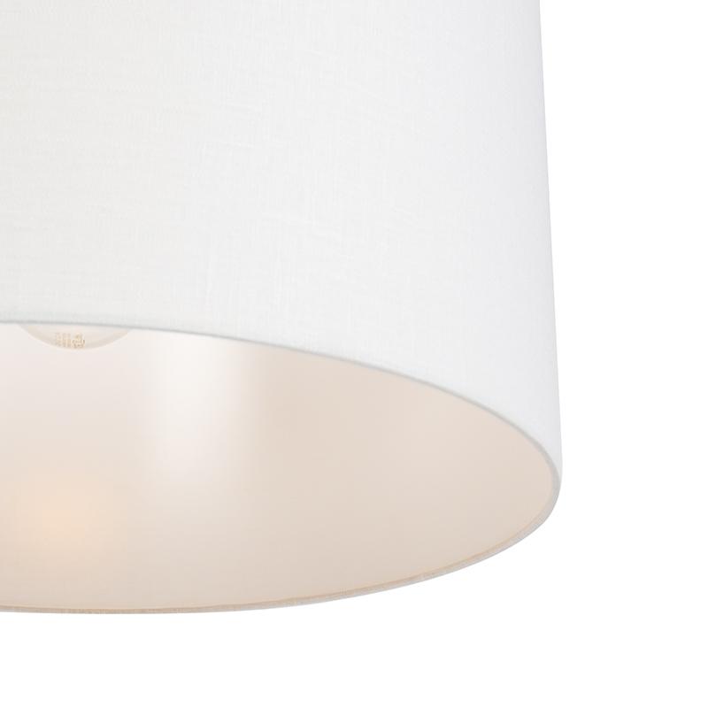 Lámpara colgante moderna negra pantalla blanca 50cm - COMBI 1