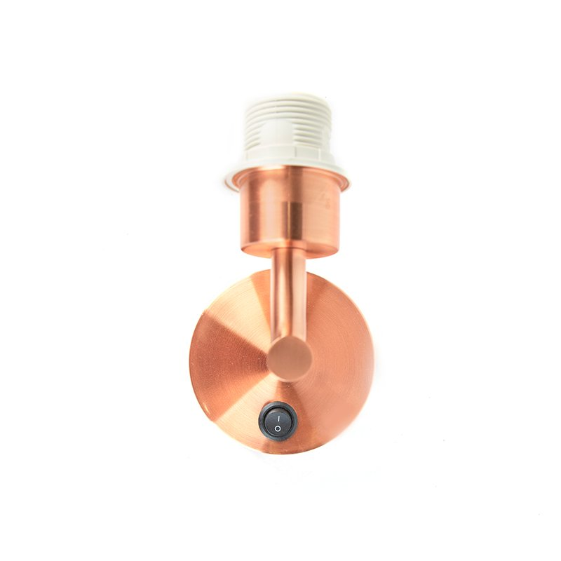 Modern 1-light copper wall lamp with switch - Combi