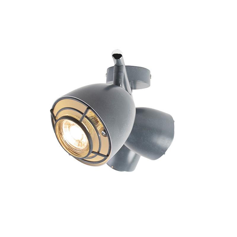 Ceiling spot gray swivel and tiltable 3-light - Plan