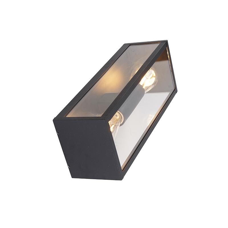 Aplique industrial negro 38cm 2-luces IP44 - CHARLOIS