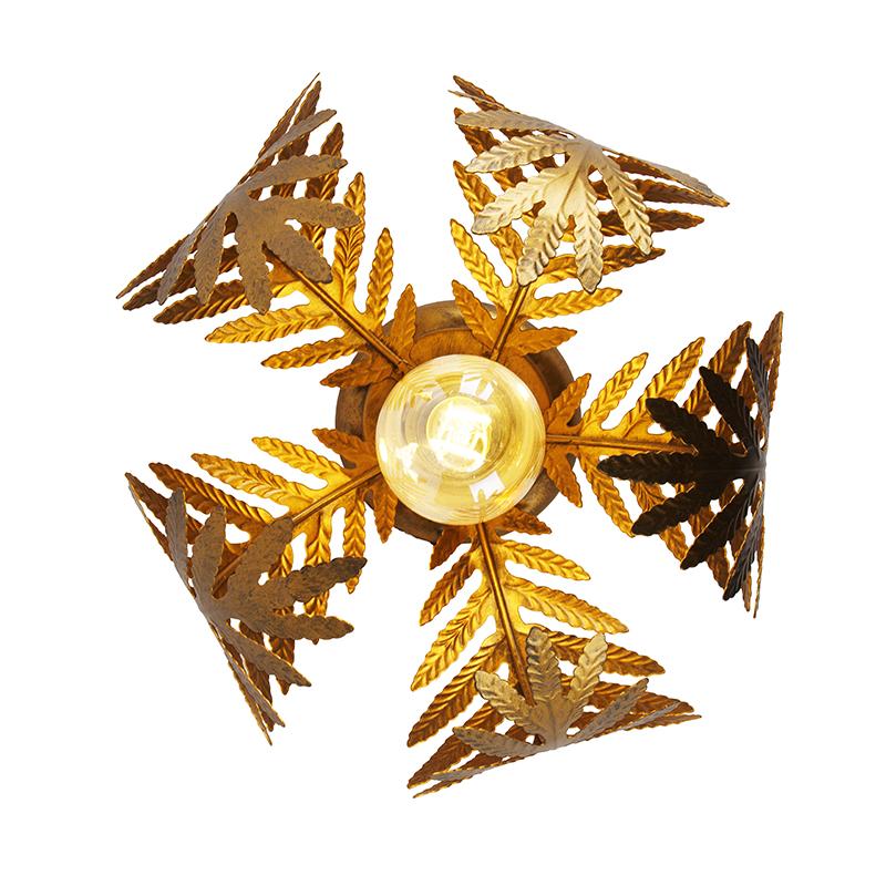 Smart ceiling lamp gold 24 cm incl. WiFi ST64 - Botanica