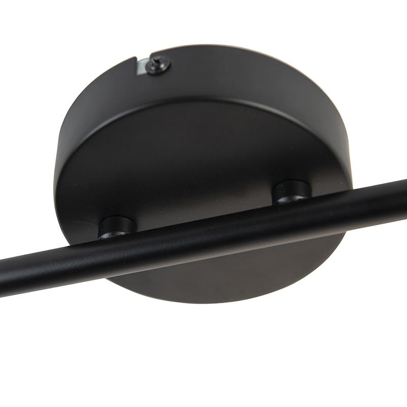 Industrial spotlight black 2-light with valves - Movie
