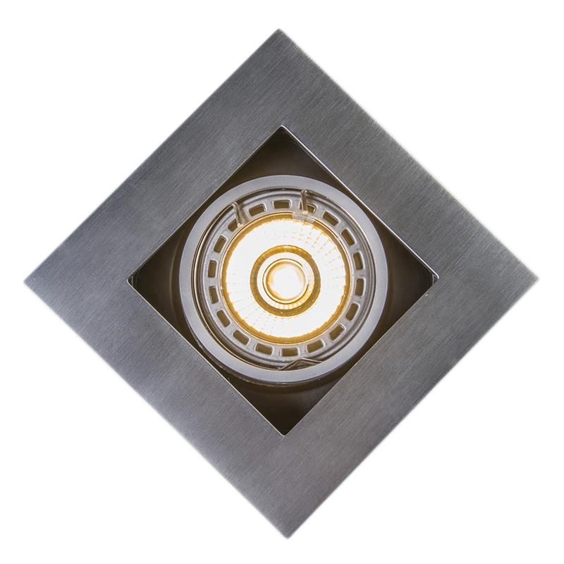 Set 10 focos empotrados aluminio - QURE