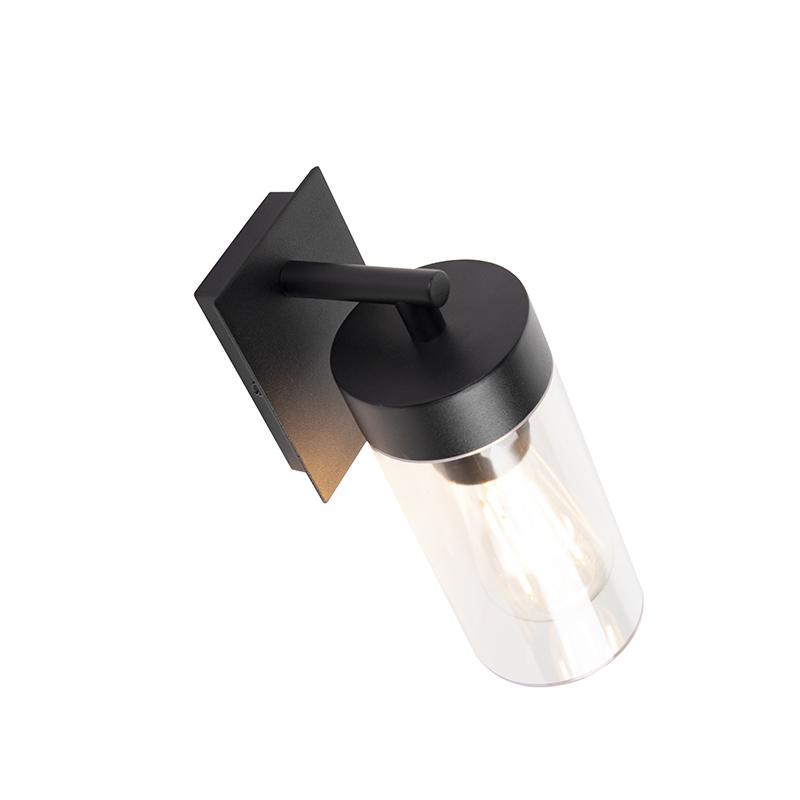 Modern outdoor wall lamp black - Rullo