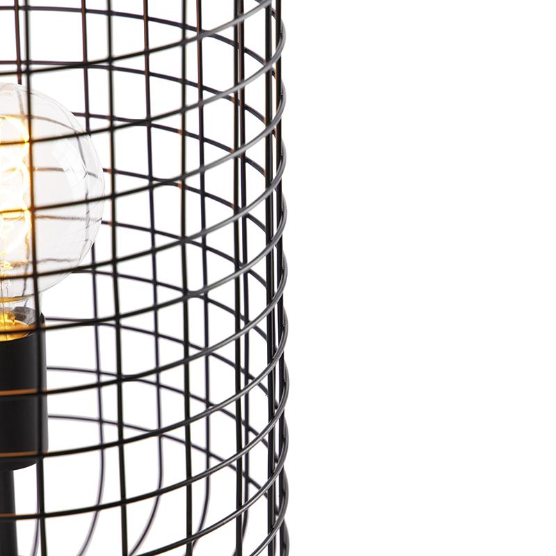 Lampe de table industrielle noire 40 cm - Bliss Vefa