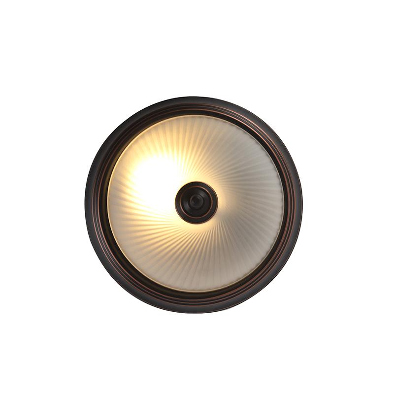 Plafón clásico marrón vidrio translúcido - CLASSICO