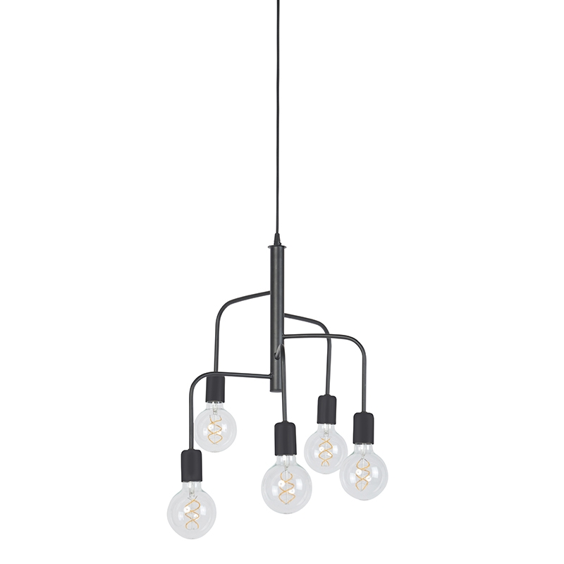 Modern Pendant Lamp 5 Black - Facile