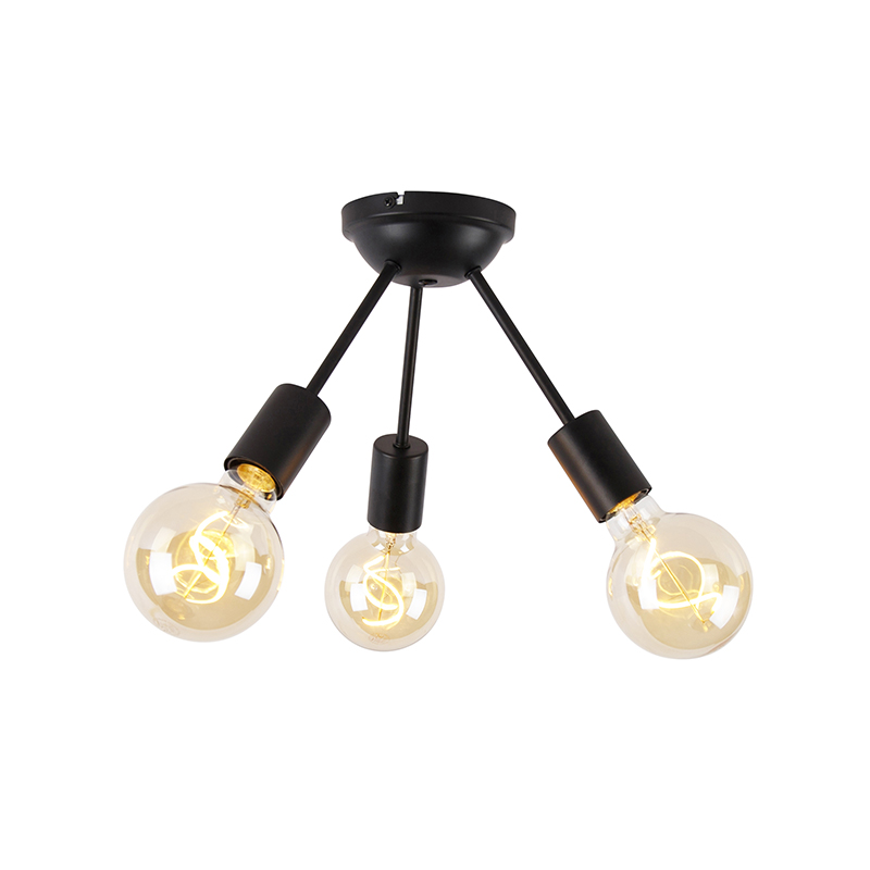 Modern ceiling lamp black 3-light - Sputnik