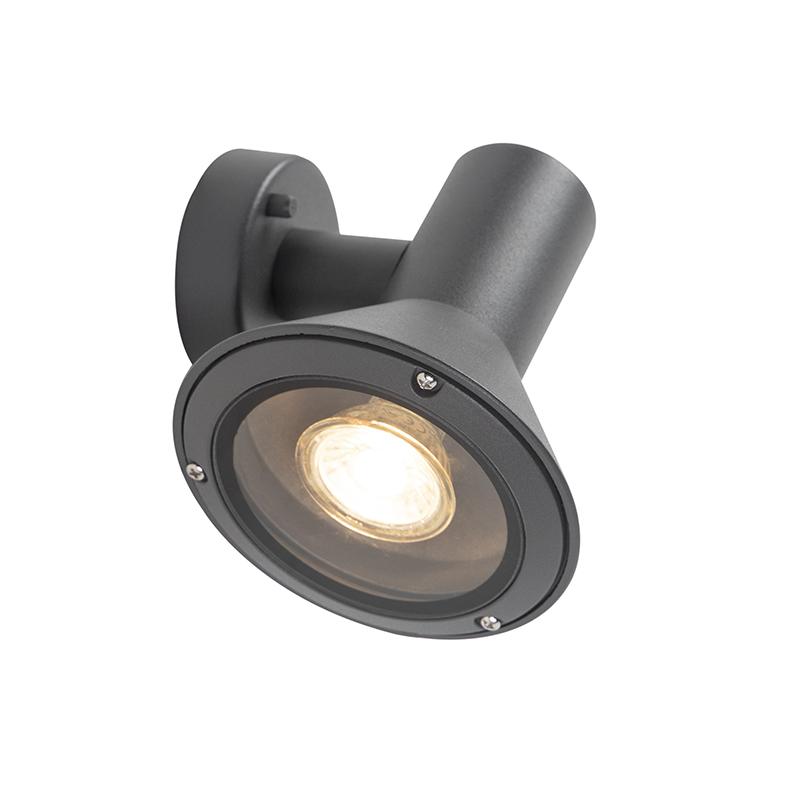 Modern Outdoor Wall Lamp Dark Grey - Humilis