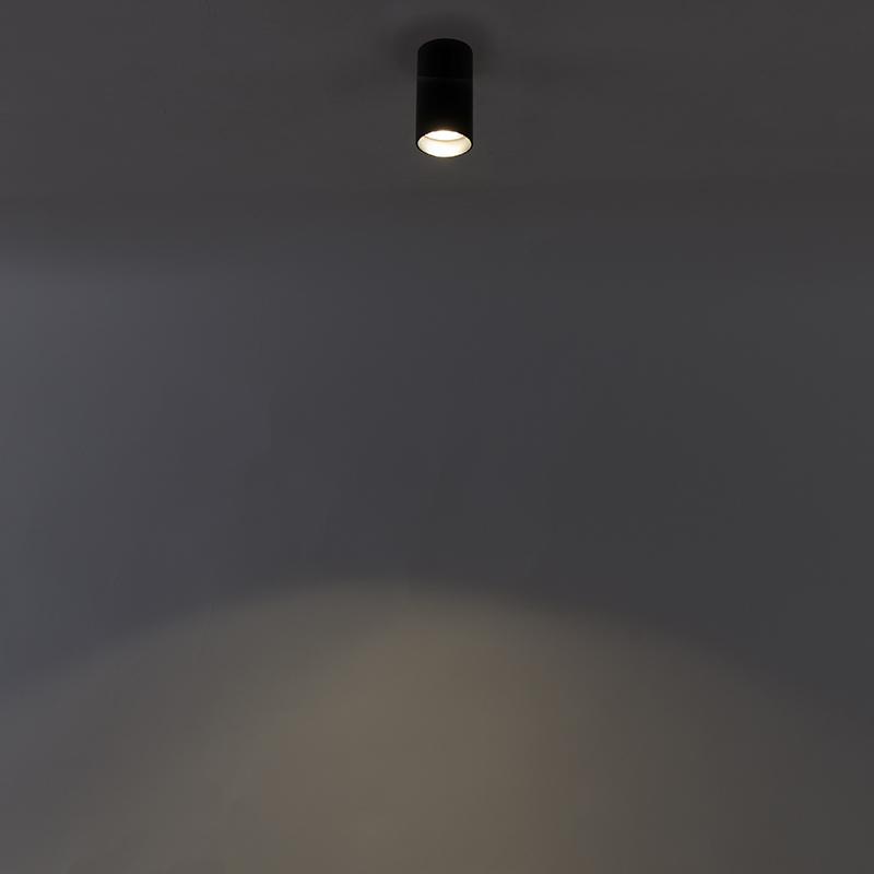 Foco moderno negro bombilla-WiFi-GU10 - TUBA 1