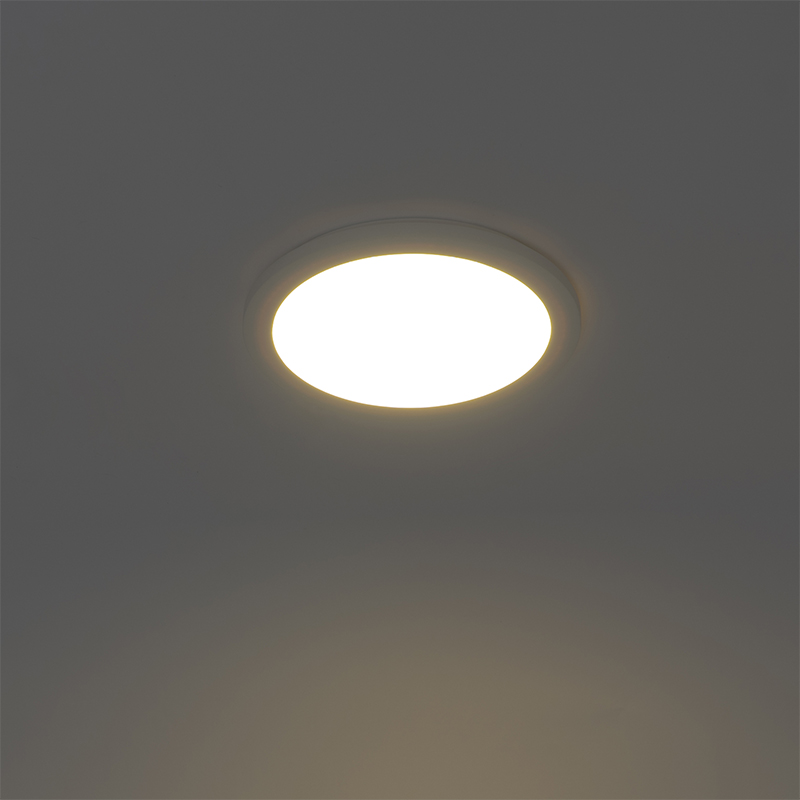 Ceiling lamp white 30 cm incl. LED 3-step dimmable IP44 - Steve