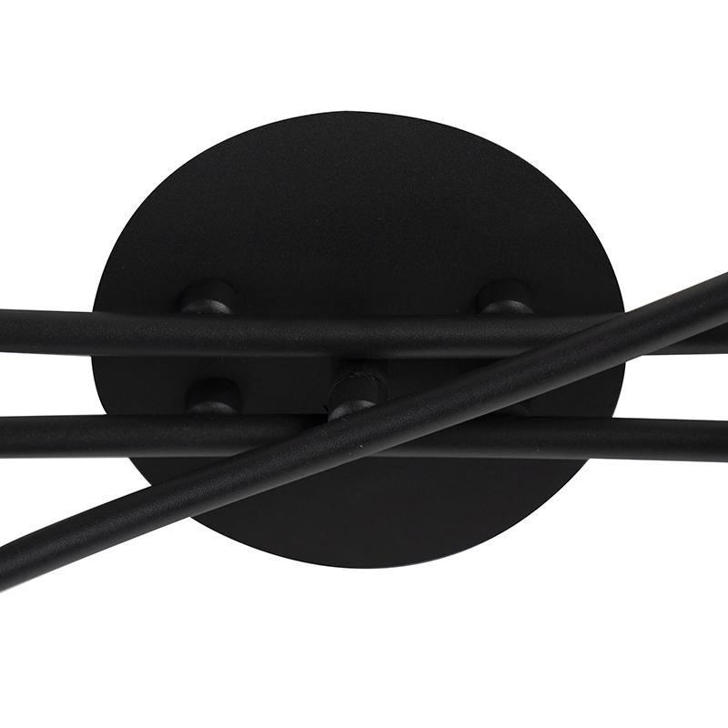 Modern Ceiling Lamp 6 Black - Lofty
