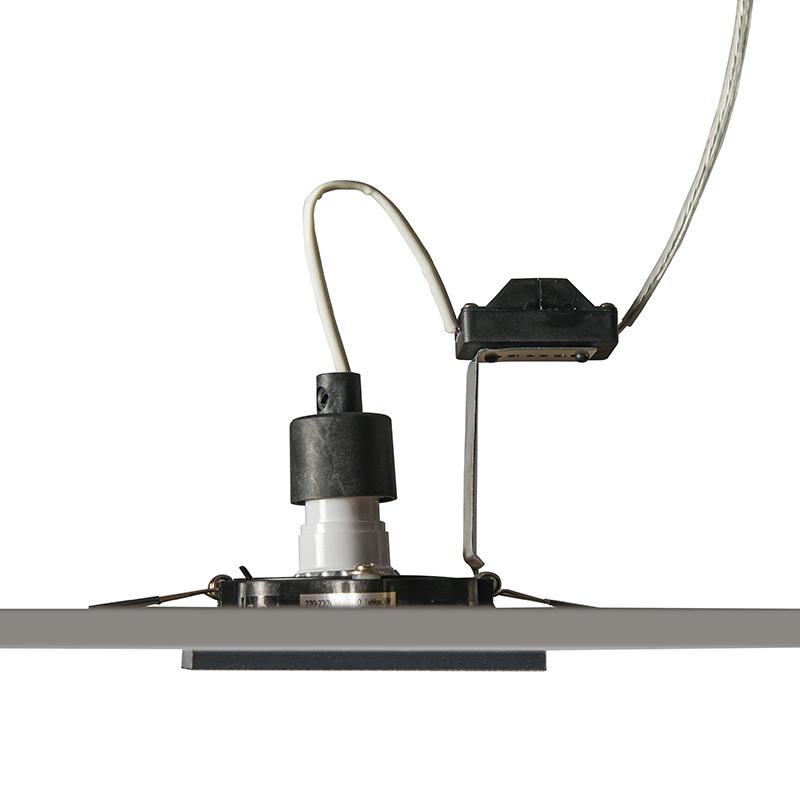 Set of 10 recessed spotlights black adjustable - Qure