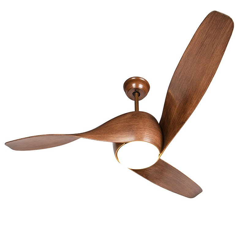 Wood ceiling fan incl. LED with remote control - Sirocco 50