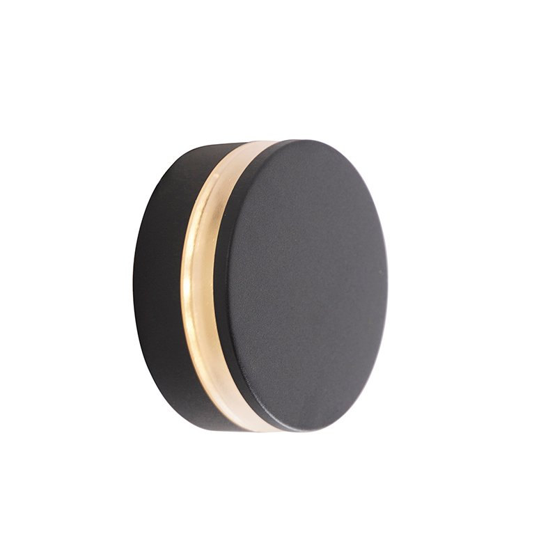 Modern wall lamp anthracite incl. LED IP44 - Theo Round