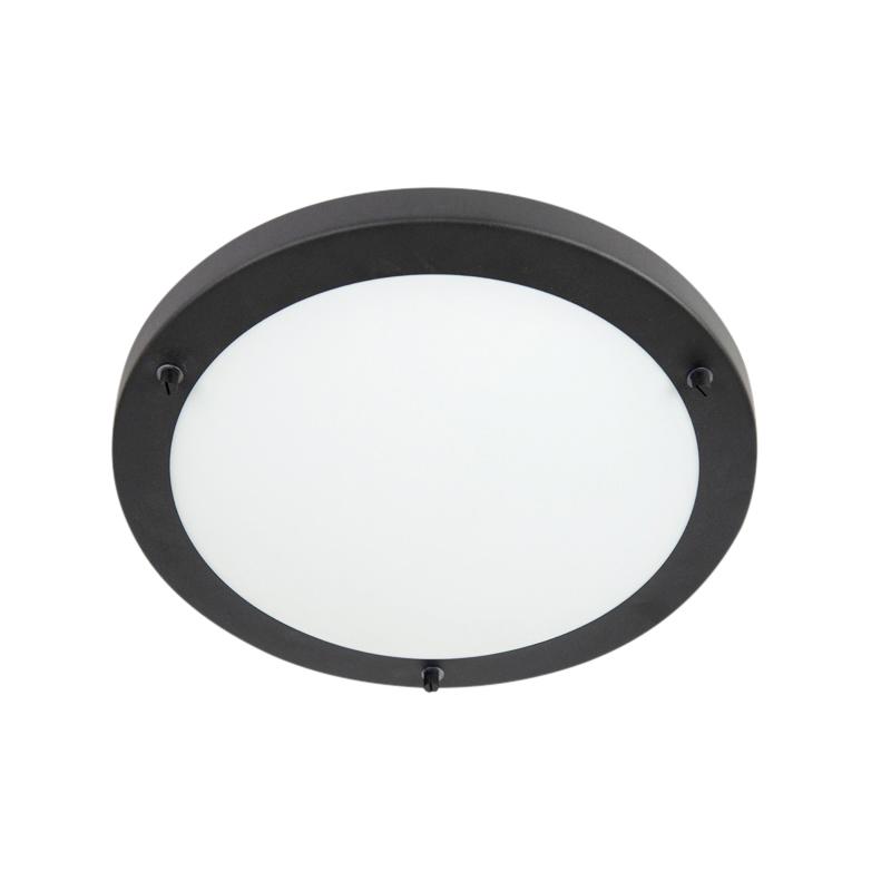 Smart ceiling lamp black incl. WiFi A60 IP44 - Yuma 31