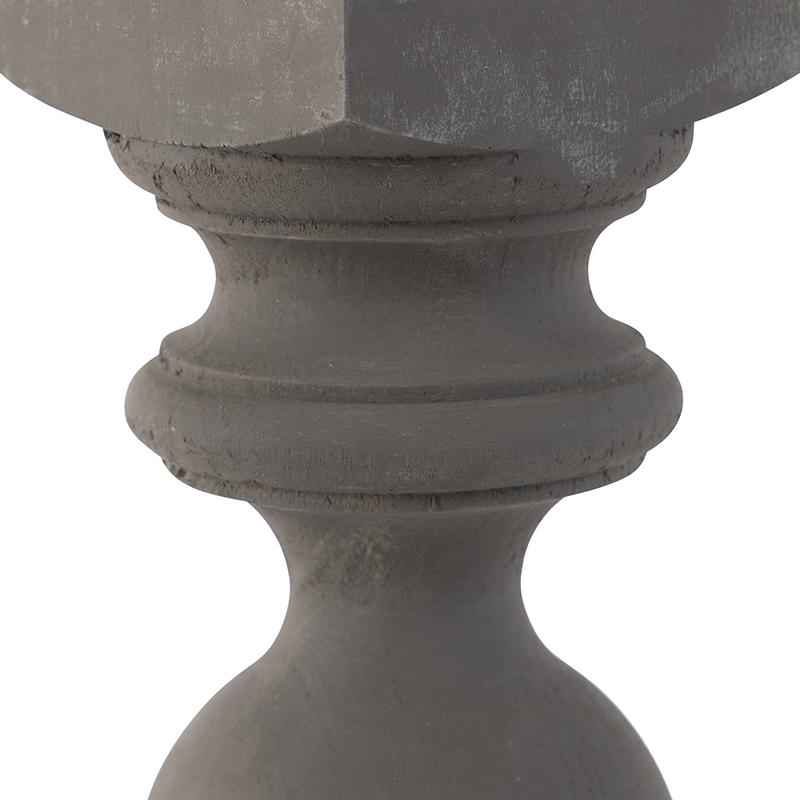 Lampe de table country gris avec abat-jour beige 35 cm - Rik S