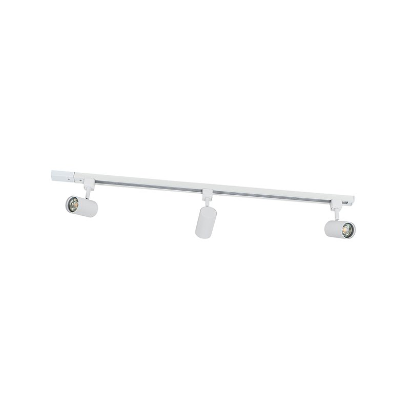 Modern 1-phase rail system with 3 spots white - Jeana