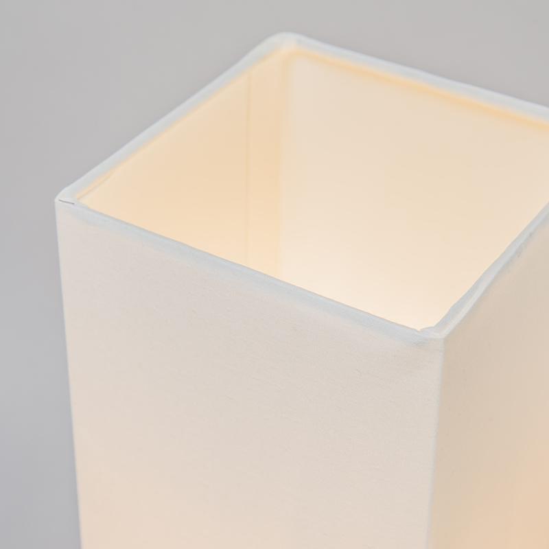 Lampe de table moderne blanc avec acier - Milo